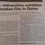 Great article on #Qatars Education City @QF in USA Today - mentioning Nortwestern & @GeorgetownQatar (26 Nov) https://t.co/AJzvkgL3Qk