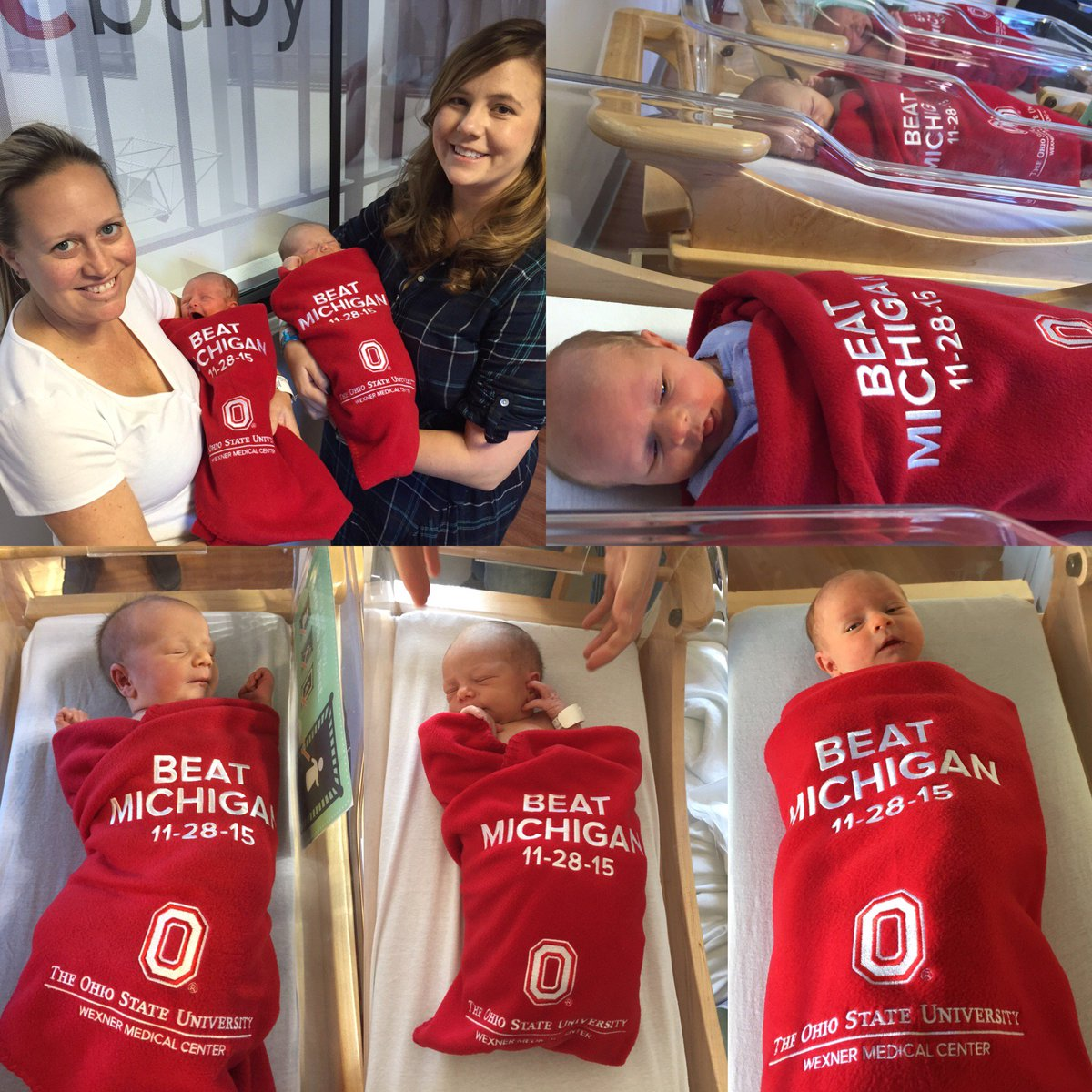 Our nursery is full of #BuckeyeBabies who were born just in time to see @OhioStAthletics beat #TTUN! #GoBucks https://t.co/NaYFTO06pR