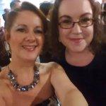 THE lovely @LauraCreaven aka @fulltothebrum at @BirminghamAward - ready for the BIG night!! https://t.co/zB7O1r69YN