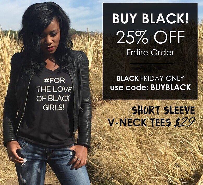 @JamilahLemieux @UniquelyUSummit! Offering 25% OFF our #ForTheLoveOfBlackGirls Merch!   https://t.co/YyYoku4DSE https://t.co/DvrpyKguDU