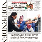 Saturdays Independent front page Labour MPs break cover and call for Corbyn to go #tomorrowspaperstoday #bbcpapers https://t.co/GLDT9dnbTb