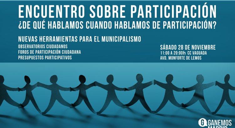 Mañana encuentro sobre Participación en el Centro Cultural La Vaguada > https://t.co/SDNcxZCUO3 https://t.co/9zbS6QcDPy