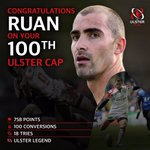 Congrats to Ruan who will make is 100th Ulster appearance tonight #Legend https://t.co/KvxVlULoMk