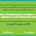 ¡Súmate a la protesta mañana! ¡El SÍ en la 8 vive, la lucha sigue! #IniciativaAntitaurina #ReaccionaYAcciona #Quito https://t.co/2CZzRm6ke0
