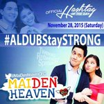 Be strong, things will get better. Goodnight MaiDen Heaven Family #ALDUBStaySTRONG https://t.co/0FOPQ2ADs4