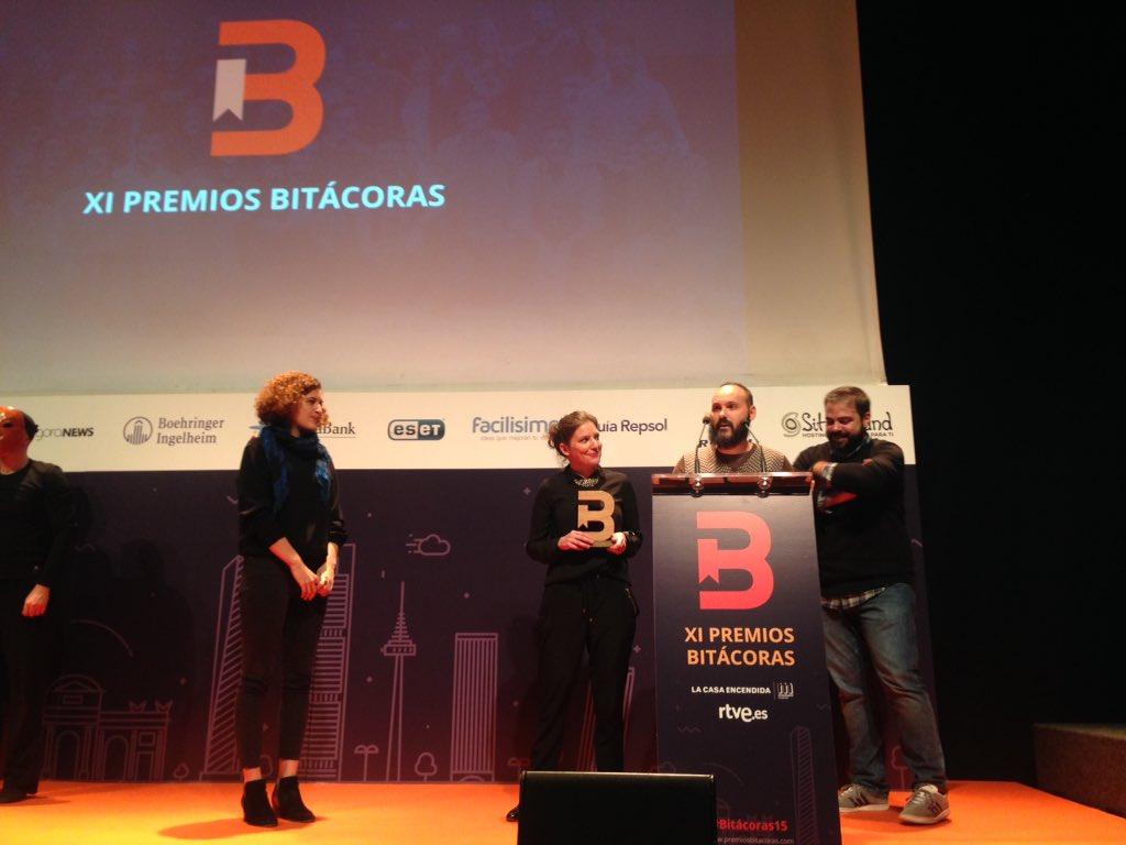 «Una única cultura», el lema de @Principia_io ganador en la categoría Arte y Cultura de los Premios #Bitácoras15 https://t.co/wvF8gJNYKz