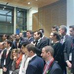 . @EmmanuelMacron et @axellelemaire autour des 21 startups ambassadrices de la #frenchtech à la Cop21 https://t.co/PhysM2vElA