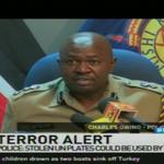 Terror Alert: Police warn of possible attack after theft of UN car plates #NTVWeekendEdition @VickyRubadiri https://t.co/LLl0RxRISm