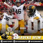 The unbelievable journey continues... #HAWKEYES WIN!  12 and OH! https://t.co/K8NdYAYoRI