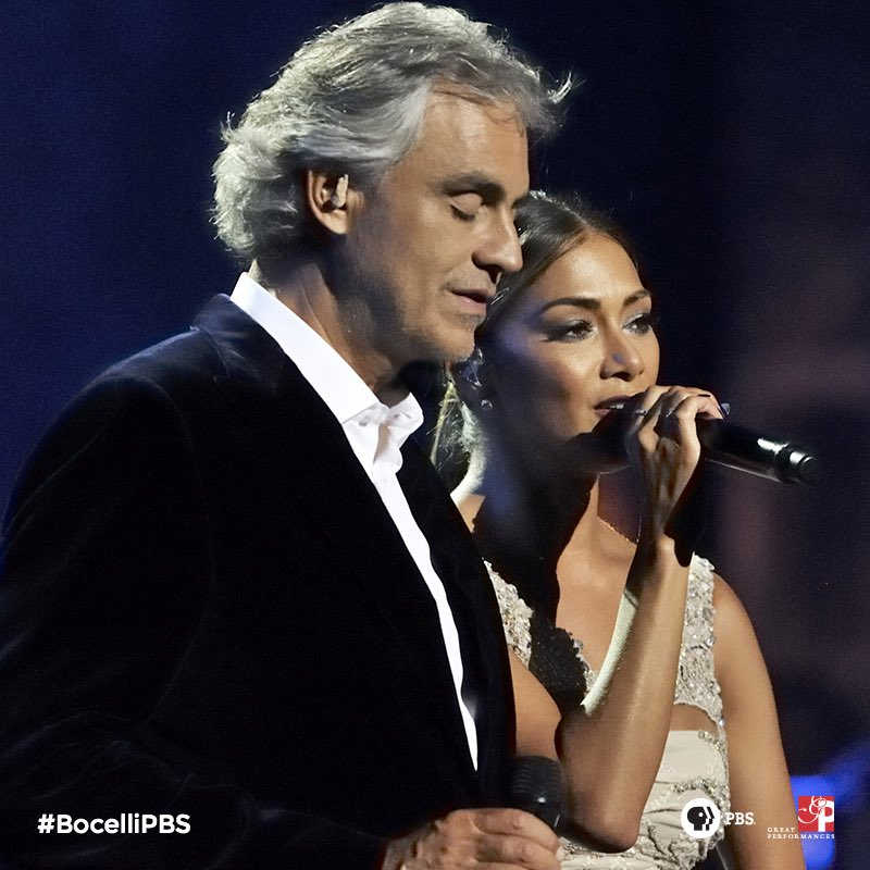 So #grateful to have performed with the incredible @AndreaBocelli. Watch our duet tonight on @PBS @ 9pm! #BocelliPBS https://t.co/QTwIZasaEM