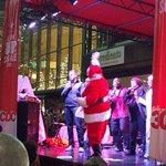 Santa and @q102jonjon @MyFountainSqr Christmas Tree lighting! #Cincinnati https://t.co/Kfk1cANhtr