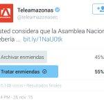 @teleamazonasec @ecuavisa @tinocotania ahora sí es democracia? @viviana_bonilla @MashiRafael el pueblo ha hablado. https://t.co/aFEZDzCbVk