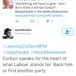 Corbynistas order Corbyn to back Corbyn - or else https://t.co/rEzoGExUwv