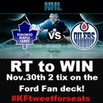 RT to #WIN @MapleLeafs tix! We have 2 tix for Nov.30th! LAST MINUTE TIX! RT to be entered to win! #KFtweetforseats https://t.co/wbrMeKDz0q