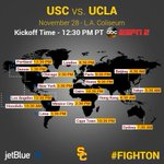 The greatest crosstown rivalry in college football kicks off in 24 hours... #BeatTheBruins #FightOn https://t.co/ue6AcK2Z2R