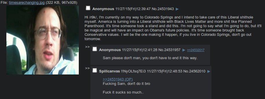 Is Sam Hyde like a one size fits all KKK bogeyman? Was tied to #Mizzou incidents as well  #ColoradoSprings https://t.co/MA0fjOraPF