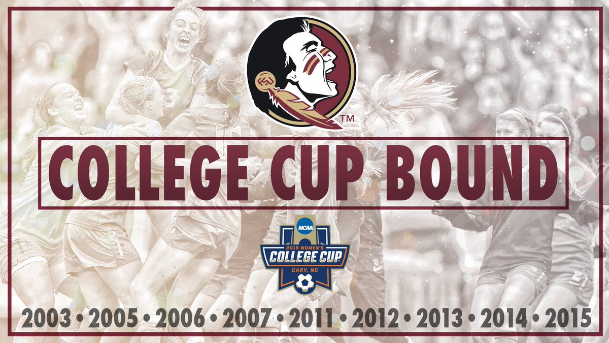For the 5th consecutive year the #Noles are College Cup bound!! https://t.co/w8ZU0L2Cdq