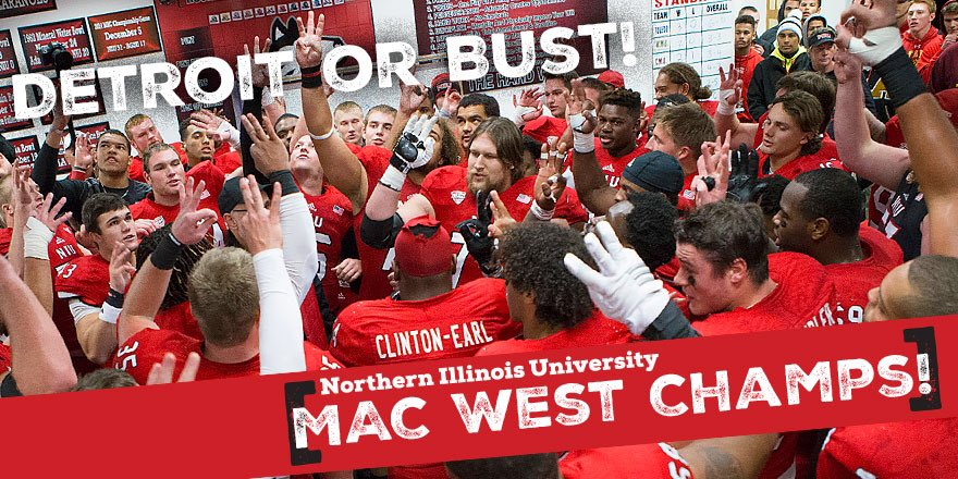 The #Huskies are headed to Detroit for the 6th year in a row! #NIU will face Bowling Green 12/4 at 8 pm (EST)! https://t.co/kVbsG2IFhy