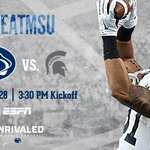 The Nittany Lions take on the Spartans tomorrow in East Lansing. Catch the action on ESPN. #PSUvsMSU #WeAre https://t.co/3kUhZWhMM8