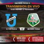 Desde las 19:00 juegan @UCatolicaEC vs @ClubMushucRuna1 en el Atahualpa. DISFRÚTALO POR https://t.co/VMhJskfyBG https://t.co/9fYQbZf7L4