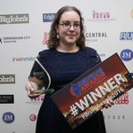 Well done to Laura creavan from @FulltotheBrum for winning blogger of the year #brumawards2015 https://t.co/ZqM6PWLJiL