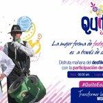 MAÑANA | Acompáñanos al desfile #QuitoEducación donde nuestra juventud rinde homenaje al #Quito antiguo https://t.co/9evhBePJMC