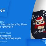If you do one thing before bed: enter for a #LateLateToyShow jumper. Follow @rte & @RTEOne & tweet #rtetoyshowjumper https://t.co/srWNV4b7qL