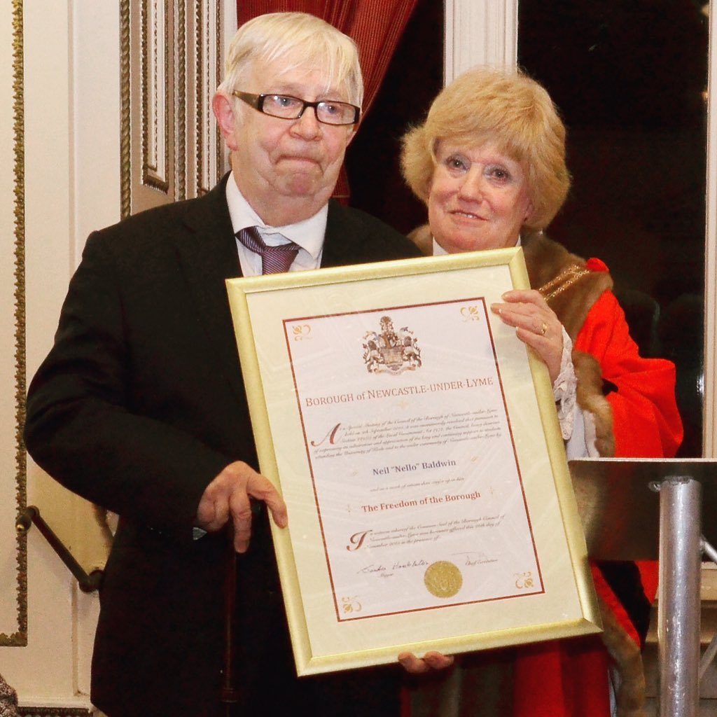 """I always wanted to be happy, so I decided to be"". Our Nello - honoured with the freedom of Newcastle-under-Lyme"
