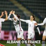 Victoire 6-0 en Albanie. Heureuse davoir pu contribuer à cette victoire avec ce doublé. Merci à tous #ALBFRA https://t.co/41daA2IOHd