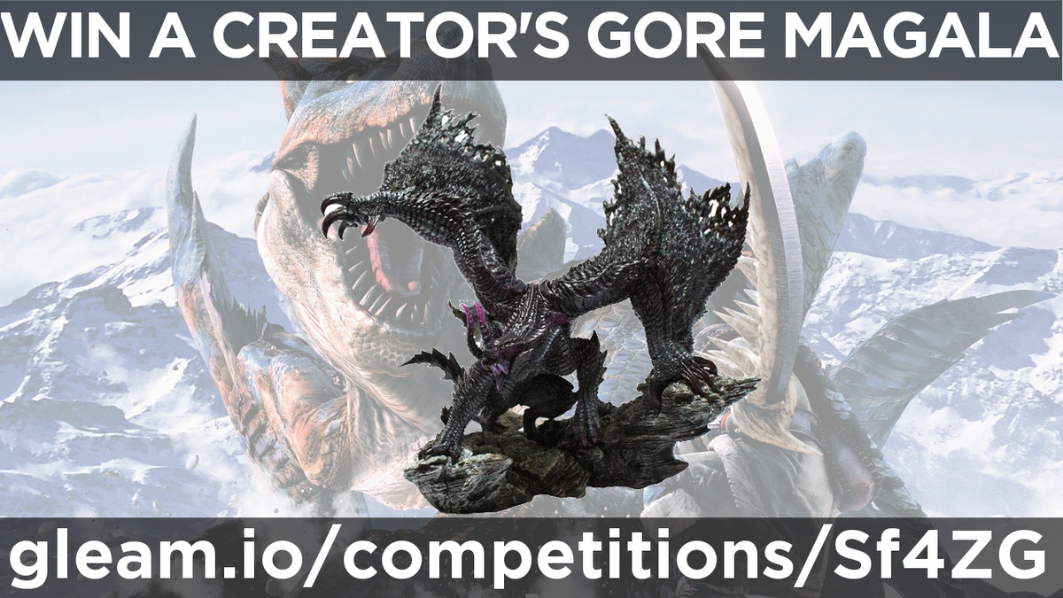 GIVEAWAY: Win a Creator's Model Gore Magala. Check out this link - https://t.co/ZnTOSPxEUk and best of luck!! https://t.co/3EmX1r23ab