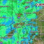 Light rain over Greater #Cincinnati & slowly moving east. @wcpo https://t.co/nwKVh6Xi4f