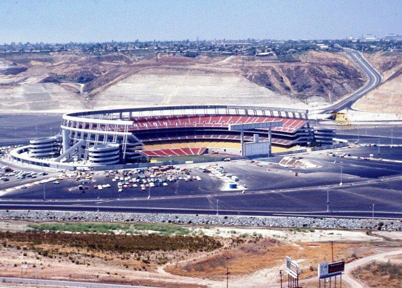 San Diego Stadium Under Construction 1967 Mlb S Padres