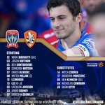 [TEAM] Here's the @NewcastleJetsFC starting side and substitutes for #NEWvBRI this afternoon! #TogetherWeCanSoar https://t.co/OLunXcPhRQ