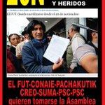 Ranulfo @perezunagua , tatamuez,quishpe,tibán y cia buscan generar un muerto? @MashiRafael @fcorderoc @JoannaJativa https://t.co/aVMzoYSfhB