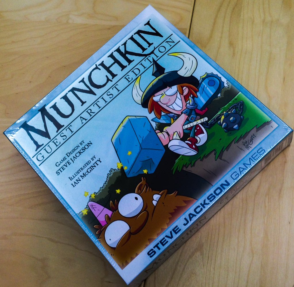 Retweet this to win an early copy of #MunchkinGAE illustrated by @ianmcginty! 1 winner will be selected Monday. -RF https://t.co/gze4jDHG6W