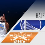 Dubs keep an 18-point lead at the half. https://t.co/idW7Kblth5