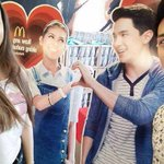 Cindy and her boyfriend with ALDUB Standee. #ALDUBStaySTRONG https://t.co/UhlN3Jo6SA