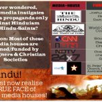 Media houses are funded by foreign Christian Societies who convert poor Hindus into Christians! #SICKularConversions https://t.co/cXpz2A0rcP