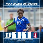 #NCAA College Cup bound for 3rd time in school history! Blue Devils advancing in PKs, 3-2, over Stanford. #GoDuke https://t.co/f2dK3MQIUr
