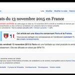 Comment Wikipédia a écrit lhistoire des attentats du 13 novembre https://t.co/a5Od1DwZqu par @gregorbrandy https://t.co/IVJ5IMLsZ4