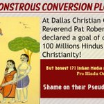 Reverend Robertson declared goal of converting 100 Millions Hindus to Christianity #SICKularConversions . https://t.co/dsM9Kxp7tA