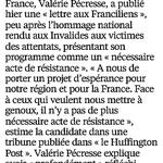 """Le programme de @vpecresse pour la région Ile-de-France : """"un acte de résistance"""" (dans @Le_Parisien) #IdF2015 https://t.co/hqtsAwzCtd"""