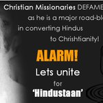 Christian Missionaries converts poor Hindus in lacs/Year! Hindus Wake Up & Get UNITED ASAP! #SICKularConversions https://t.co/CYQQ01fEL9