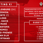 The teamsheets are in! Heres how #SaintsFC will line up for todays game against @MCFC – https://t.co/auRDFCmWVP