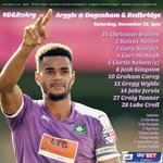 How the lads line up this afternoon #pafc #D&RvArg https://t.co/CS3Z7UTLA5