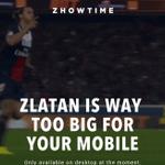 """Mobilden girenleri bir sürpriz bekliyor: """"Zlatan mobil cihazda görüntülenmek için fazla büyük."""" https://t.co/VC5uxUpXhZ"""
