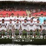 É CAMPEÃOOOOOO! Com o empate em 1 a 1, gol de Kiefer, o sub-17 do Tricolor é CAMPEÃO PAULISTA! #MadeInCotia! https://t.co/yXXlJny73B