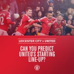 You could win a signed shirt by predicting the #mufc team - theres still time to enter: https://t.co/UdaE2aTHg6 https://t.co/Pl7VcO44Ms