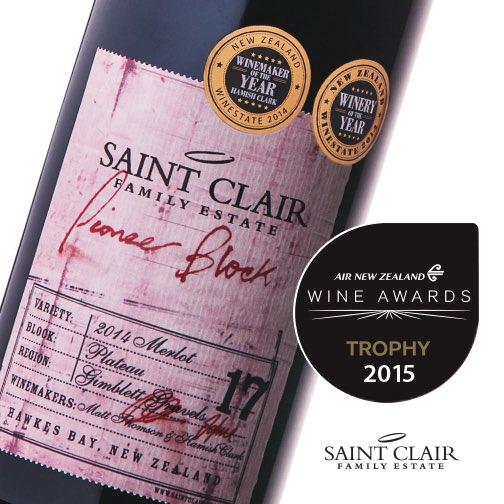 Champion #merlot Air New Zealand wine awards Saint Clair Family Estate #nzwine #anzwa https://t.co/4ynAyJnrN2