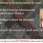 @babitasahu5 @vine Robert Soloman exposed Missionaries who convrt poor Hindus into Christianity #SICKularConversions https://t.co/KoRgZQillb
